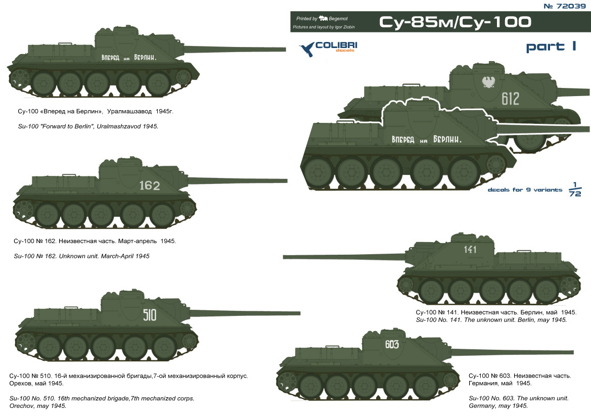 Rote Armee M3 Lee cd72065// Colibri Decals 1//72
